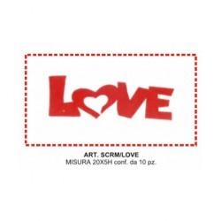 LOVE  SCRITTA MICRO ESP. 10 PZ