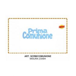 PRIMA COMUNIONE ROSA  SCRITTA MICRO ESP. 10 PZ