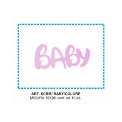 BABY  ROSA  SCRITTA MICRO ESP. 10 PZ