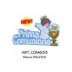 PRIMA COMUNIONE CON CALICE E ANGELO (AZZURRO)