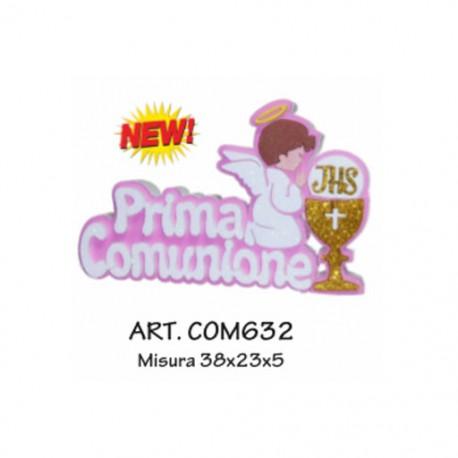 PRIMA COMUNIONE CON CALICE E ANGELO (ROSA)