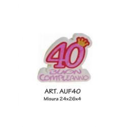 40 BUON COMPLEANNO FUXIA