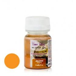 5 gr  ARANCIO in polvere perlato     (6pz)