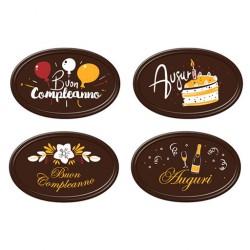 Biglietti Auguri e Buon Comleanno Cioccolato fondente    60pz