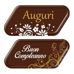 BIGLIETTI AUGURI E BUON COMPLEANNO C.CO FONDENTE     (72pz)