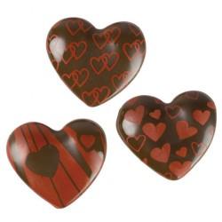 Cuori  assortiti  3D  cioccolato    135pz