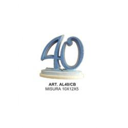 ALZATINA 40 ANNI CELESTE E BLU