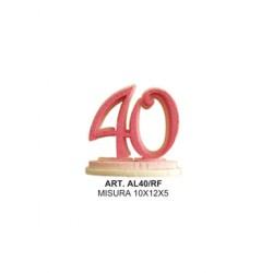 ALZATINA 40 ANNI ROSA E FUXIA