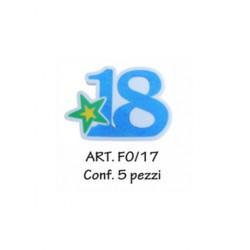 18 ANNI BLU  PER DECORARE CONF. 5 PZ.