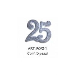 25 ARGENTO  CONF. 5 PZ.