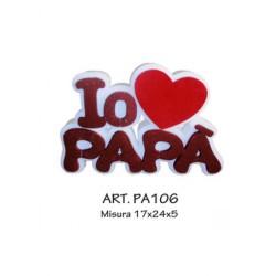 IO AMO PAPA\' marrone