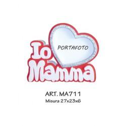 PORTAFOTO I LOVE MAMMA  (ROSSO)