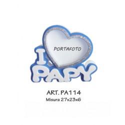PORTAFOTO I LOVE PAPI (BLU)