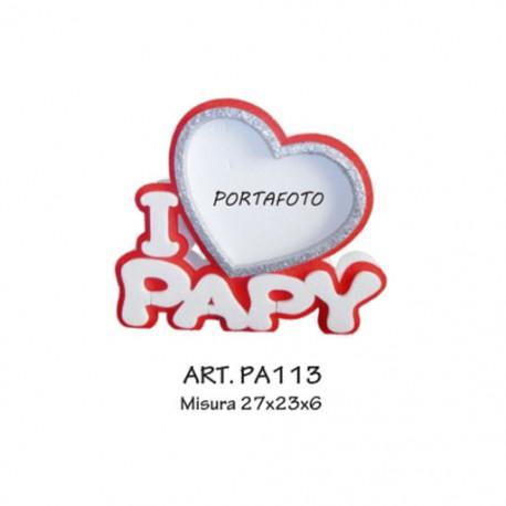 PORTAFOTO I LOVE PAPI (ROSSO)