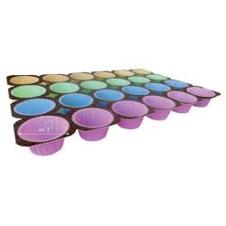 Teglia 24 muffin colorati  cm50x33,5     (15x24)